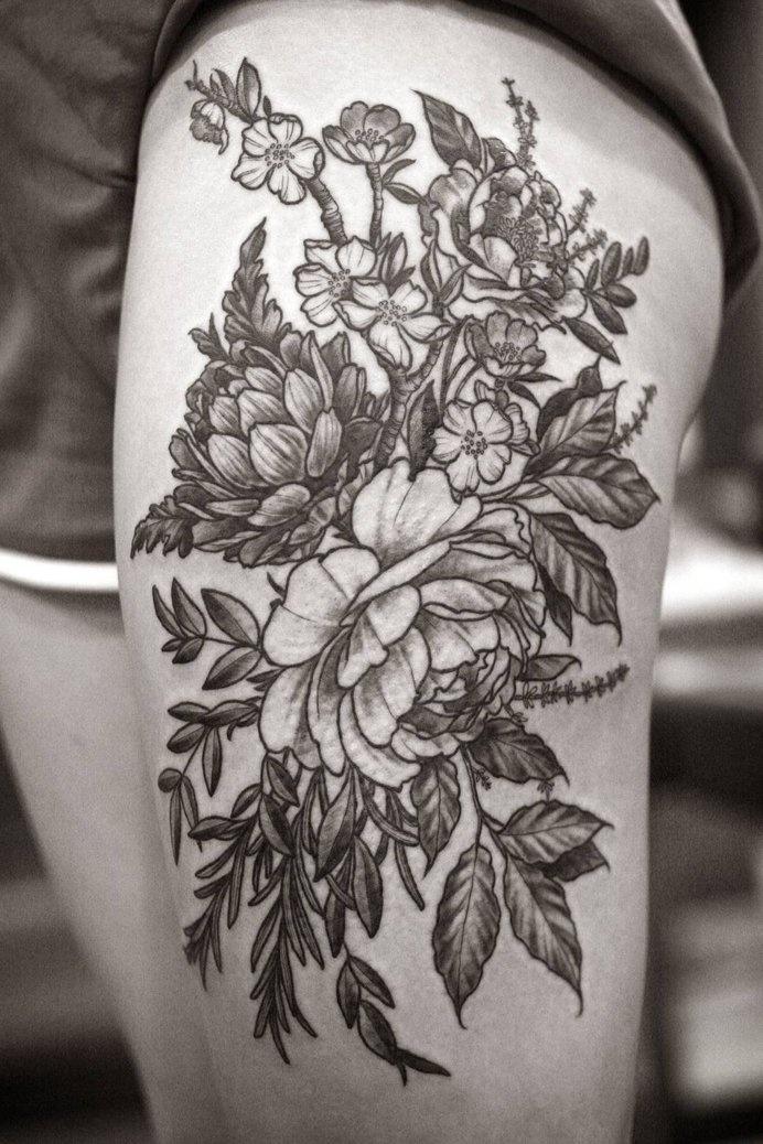 tap_347242616 #tattoo #arm #floral #black