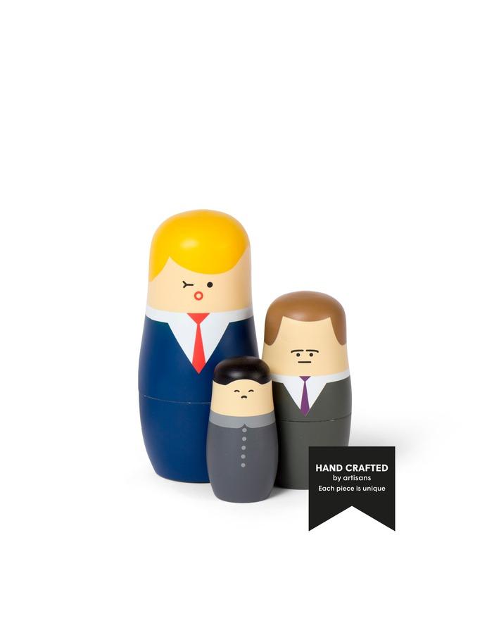 EXPRESSIONS - Big Bosses edition - Nesting dolls designed by Benjamin Hansen