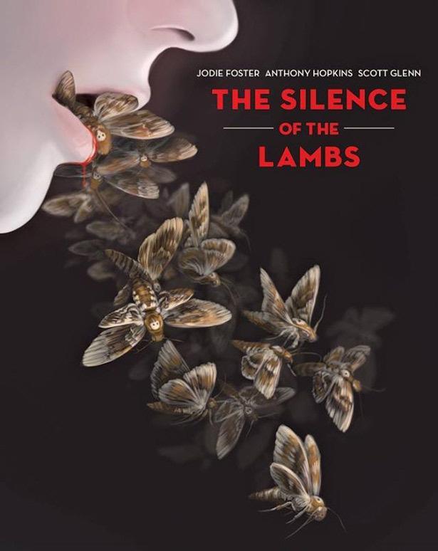 Illustrated Covers Of Cult Horror Films - Design - ShortList Magazine #lambs #moth #design #horror #silence #cover #illustration #cult #poster #art