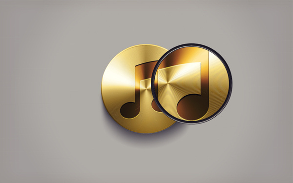 Gold Tunes on Behance #itunes #icon #golden #gold #music