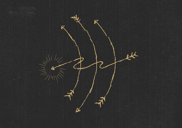 Magic Arrow #illustration #line #sketch #drawing #arrow #magic #mr kyle mac