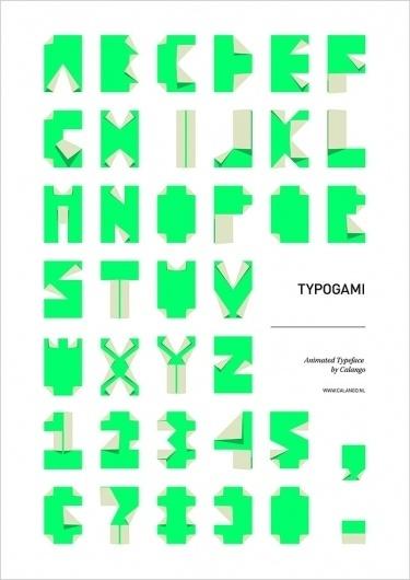 f   My Feedly #origami #typogami #typography