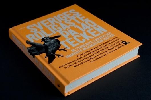 HFDP - Sveriges roligaste #sweden #design #orange #book #bird #cover