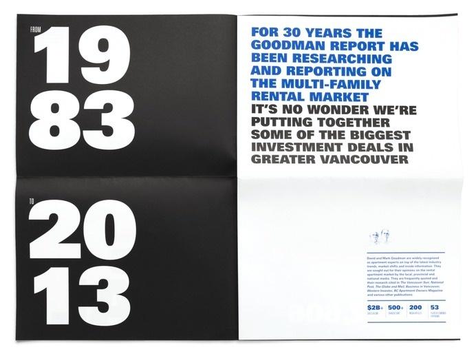 Print / Goodman Report / Work / Burnkit #newsprint #print #annual #report