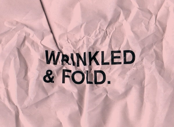 Wrinkled & Fold #fold #paper #experimental #typography