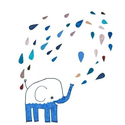 12liv-26_o.jpg (JPEG Billede, 490x490 pixels) #water #elephant #rain #cute #animal