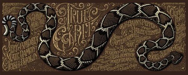 TRUE GRIT regular #typo #snake