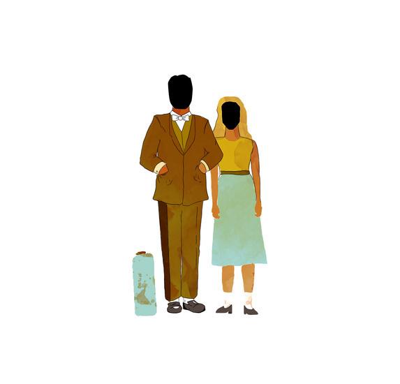 . #watercolor #couple #illustration