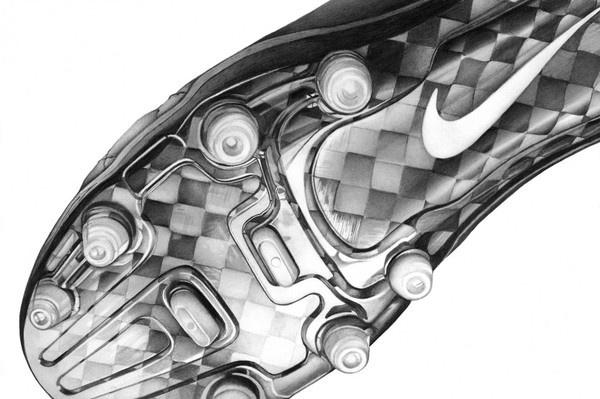 A_P_Nike_Tiempo_CR_2 #illustration #pencil