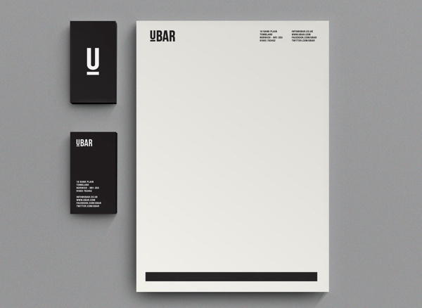 UBAR #business #stationary #branding #card #letterhead