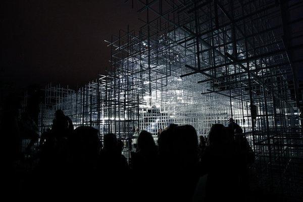 CJWHO ™ (UVA Transforms Sou Fujimoto's Serpentine Pavilion...) #installation #design #pavilion #architecture #uva #art #led