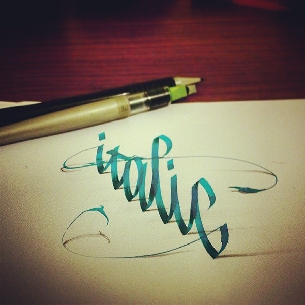 Nathan Shinkle - betype: 3D Lettering with Parallelpen by Tolga... #type #shadow