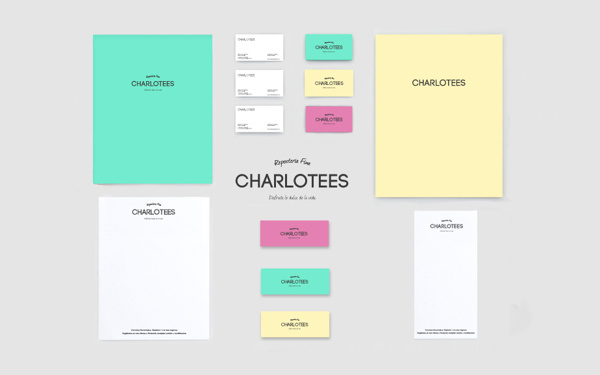 Pastelería #charlotees #branding #print #yellow #colors
