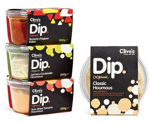 Clive's Organic Dips : Lovely Package® . Curating the very best packaging design. #packaging #in #design #bold #black #food #believe #grid #clives #typography