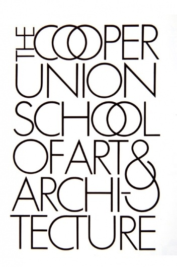 Cooper Union School of Arts & Architecture #herb #lubalin #logo #type #typography