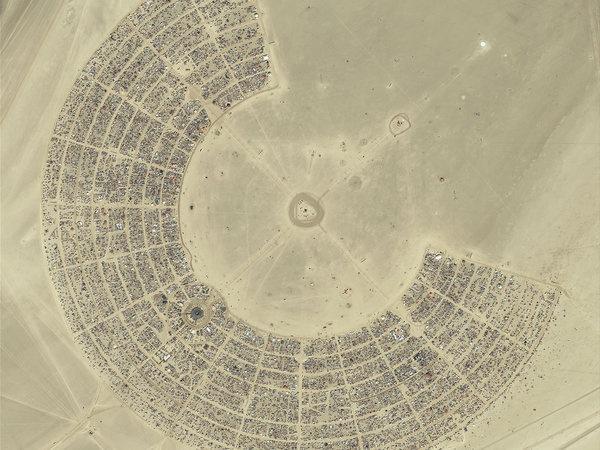 Aerial photograph of Burning Man - Black Rock City #photo #burning #man #aerial