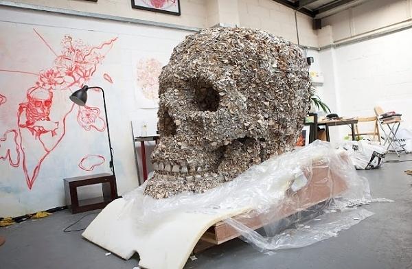 Good design makes me happy #skull #installation