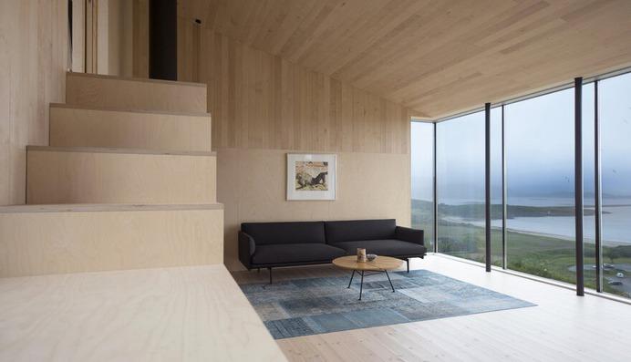 A Wooden Hillside Cabin by Kappland Arkitekter on the Island of Stokkøya, Norway