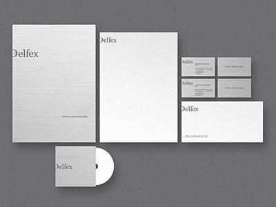 Dribbble - Delfex stationery by Jan Zabransky #loo #branding #design #graphic #corporate #identity #stationery