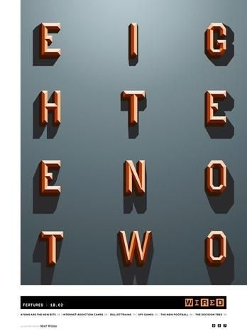 Wired Type Illustration « Studio8 Design #wired #typeface #magazine