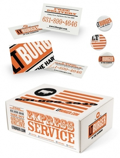 LTÂ Burger - TheDieline.com - Package Design Blog #packaging #identity
