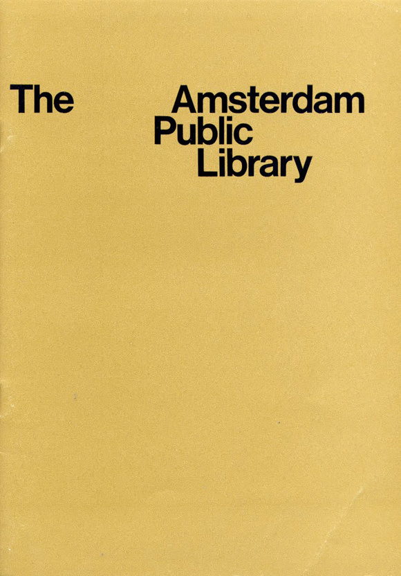 Wim Crouwel Amsterdam Public Library #functionalism #crouwel #wim #typography