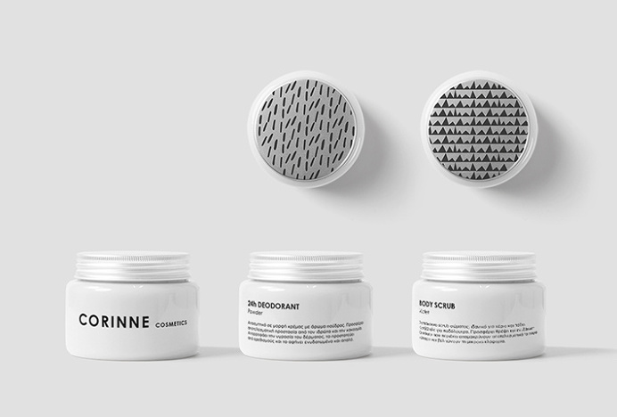 Corinne Cosmetics by Anna Trympali #packaging #graphic design