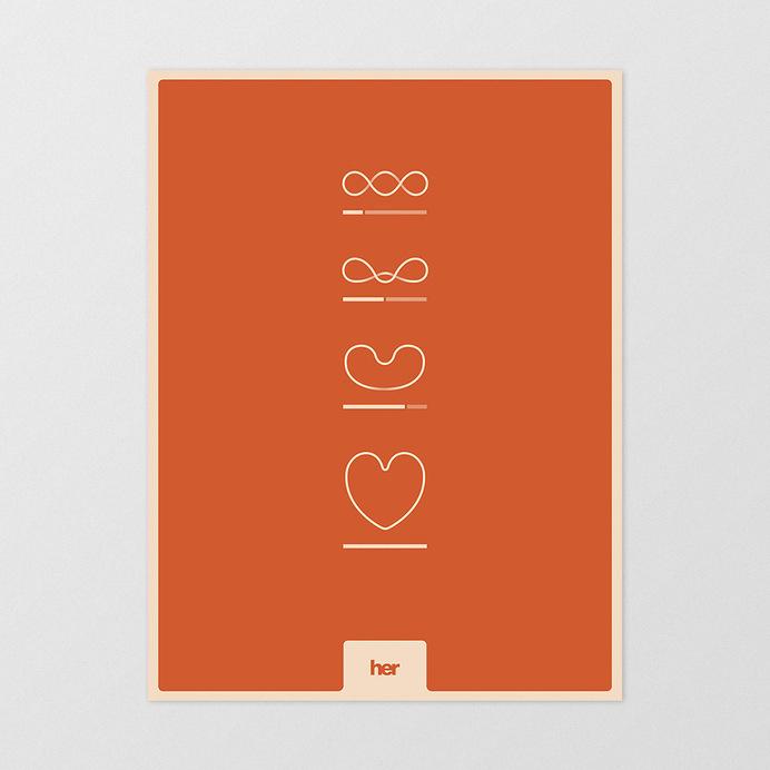 Jeremy Ford / Web and Communication Designer #heart #film #movie #valentines #print #orange #evolution #poster #her #technology