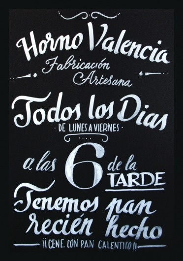 Chalkboard for a bakery in Valencia | Giuseppe Salerno and Paco González #chalkboard #bakery #pizarra #bread