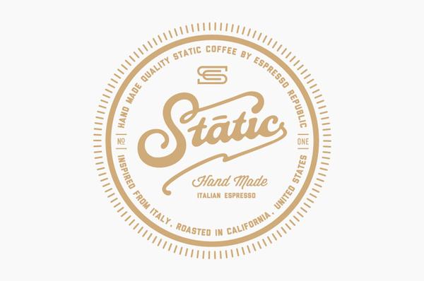 Static Coffee Logo #branding #made #coffee #logo #hand