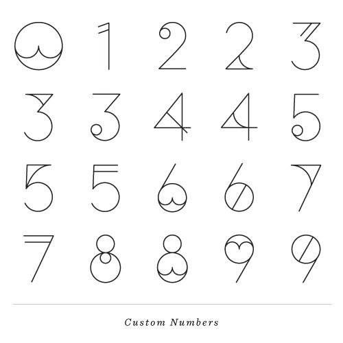 LA TIGRE DESIGN&DIRECTION #numbers #type #design #custom