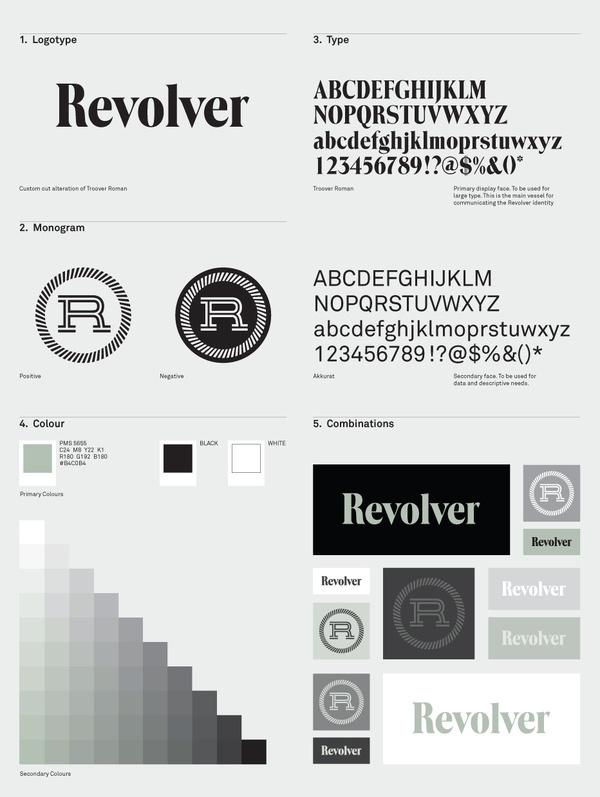 Revolver 007 #branding #moodboard #guidelines #sheet #identity #logo #style