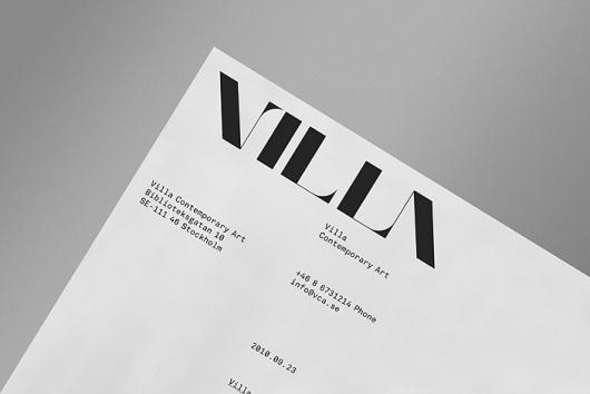 Villa « KurppaHosk #logotype #letterhead #typography