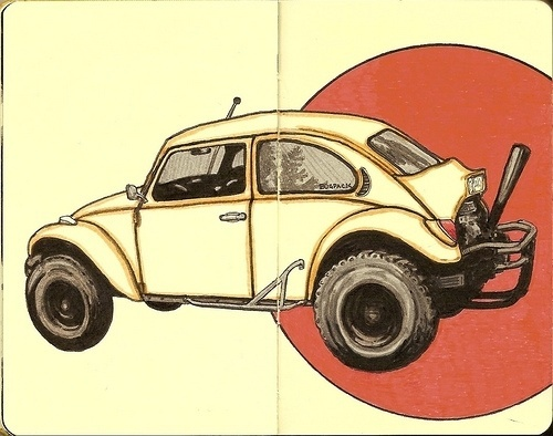 All sizes   new bug   Flickr - Photo Sharing! #ink #and #beetle #dragster #moleskine #pen #inkandclay #drawing #sketch