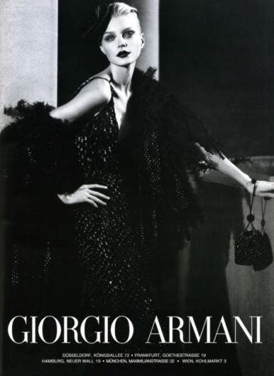 Sara Lindholm - thefashionatelier: Jessica Stam photographed for... #stam #armani #giorgio #jessica #fashion