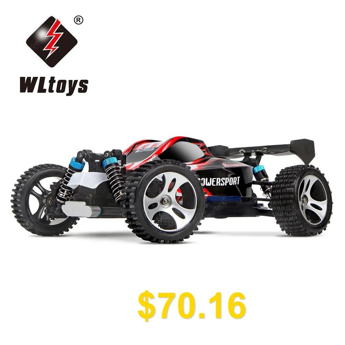 WLtoys #A959 #1:18 #Scale #2.4GHz #RC #Off-road #Racing #Car #- #RTR #- #RED