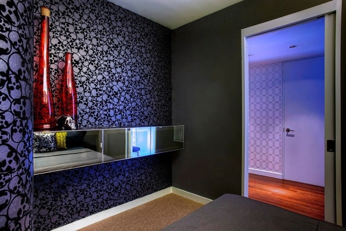 apartment, interior design, guest bedroom