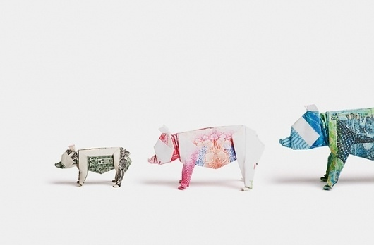 Payment Systems Group on the Behance Network #photography #origami #pho #bears #money