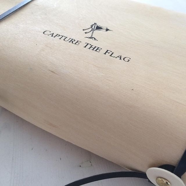 When a Capture The Flag shirt is sent from our webshop, it will be done in this wooden case. We hope the customer really feels like he's get