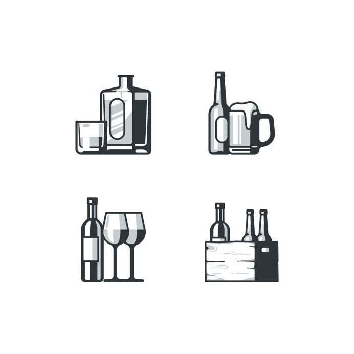 Icon Design by zamax.design #icon #icons #iconset #icondesign #iconography #picto #pictogram #graphicdesign #wine #beverage #whisky #wood #b