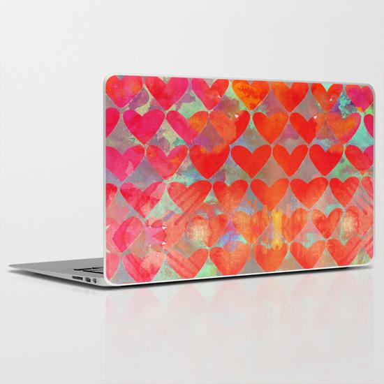 love, pattern, illustration, hearts, my, watercolor