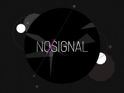 Dribbble - No-signal logo by David Slaager #techno #signal #logo #dark #no