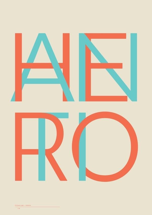 FS Emeric Light #design #overlap #typography