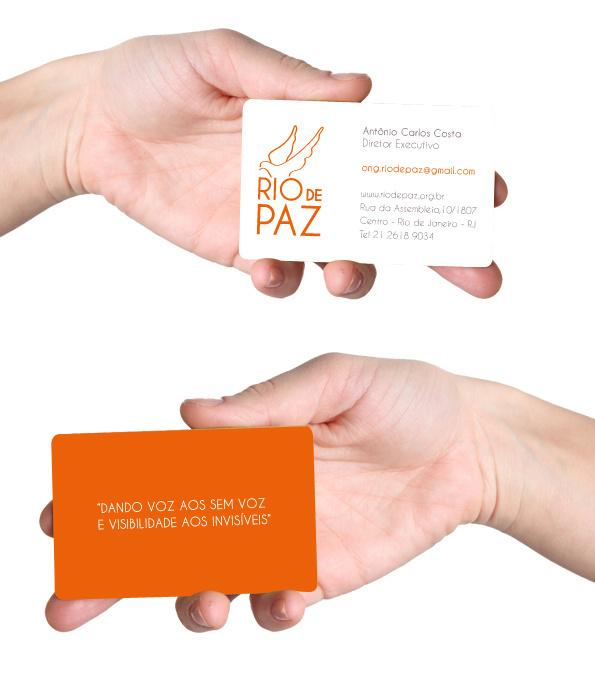 Rio de Paz - business card #visual #branding #rio #design #graphic #orange #song #de #identity #type #paz