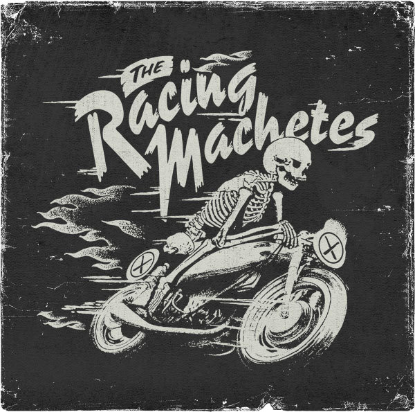 The Racing Machetes Death Rider #lettering #white #black #and #hand #typography
