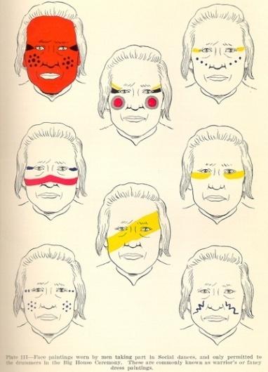 photos de high scool musical: native american face paint #indain #war #design #color #american #paint #face #native
