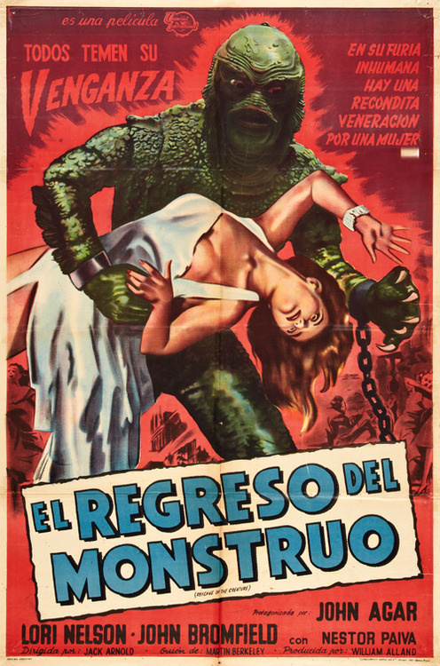Revenge of the Creature (1955) #swap #illustration #horror #thing