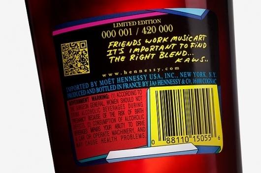 KAWS x Hennessy V.S. Cognac Limited Edition Bottle | Hypebeast #hennessy #kaws