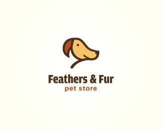Feathers & Fur by lumo #logos #dogs #fur #feathers #store #birds #pets #pet