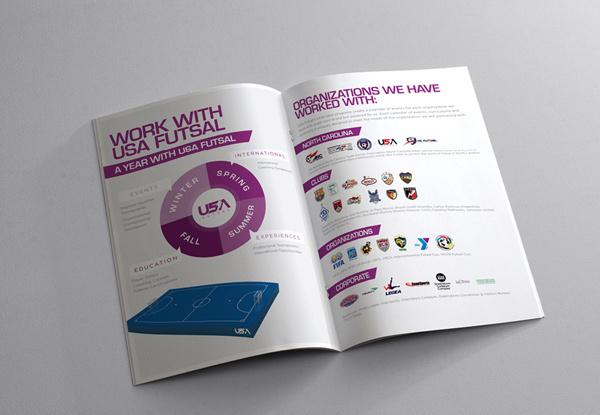 USA Futsal brochure on Behance #print #design #graphic #clean #grid #minimal #usa #football #brochure